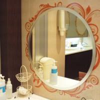 トイレ鏡縁装飾工事